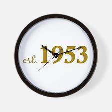 Est 1953 (Born in 1953) Wall Clock