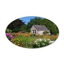 Country Garden Cottage Wall Decal