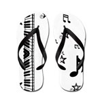 Piano Music Notes Flip Flops