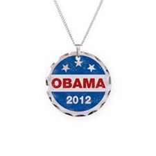 Cute Barack Necklace Circle Charm