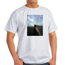 The fence, the sky, and the beach T-Shirt