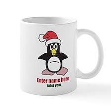 Personalized Christmas Penguin Mug