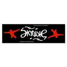 Skydive Ambigram Bumper Car Sticker