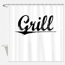 Grill, Vintage Shower Curtain