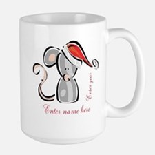 Personalized Christmas Mouse Mug