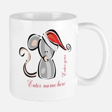 Personalized Christmas Mouse Small Small Mug