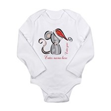 Personalized Christmas Mouse Long Sleeve Infant Bo