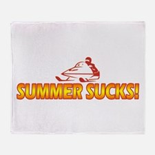 Summer Sucks Throw Blanket