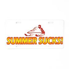 Summer Sucks Aluminum License Plate