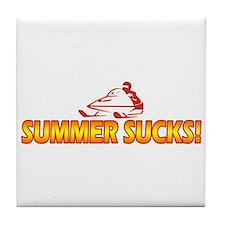 Summer Sucks Tile Coaster