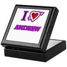 i love Andrew heart Keepsake Box