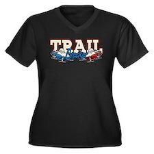 Trail Breaker Women's Plus Size V-Neck Dark T-Shir