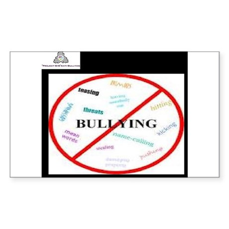 anti bullying campaign Sticker (Rectangle)