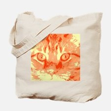 Orange Tabby PopArt Tote Bag