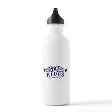 Mustache Rides Water Bottle