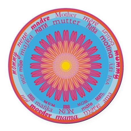Universal Mother Round Car Magnet