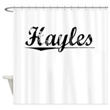 Hayles, Vintage Shower Curtain