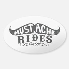 Mustache Rides Decal
