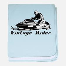Vintage Rider baby blanket