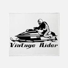 Vintage Rider Throw Blanket