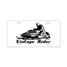 Vintage Rider Aluminum License Plate