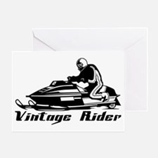 Vintage Rider Greeting Card