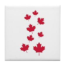 Canada maple leafs Tile Coaster