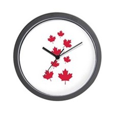 Canada maple leafs Wall Clock