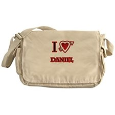 i love Daniel heart Messenger Bag