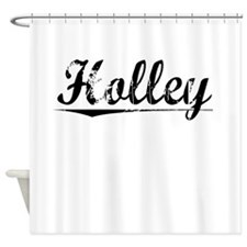 Holley, Vintage Shower Curtain