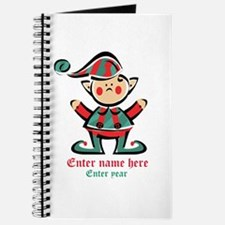 Personalized Christmas Elf Journal