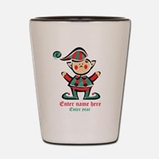 Personalized Christmas Elf Shot Glass