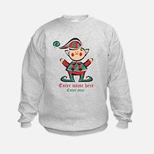 Personalized Christmas Elf Sweatshirt