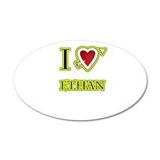 i love Ethan heart Wall Decal