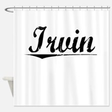 Irvin, Vintage Shower Curtain