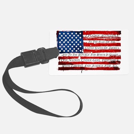 Patriotic Pledge of Allegiance U Large Luggage Tag
