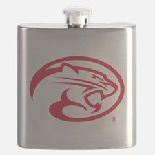 Houston Cougar Mascot Logo Flask