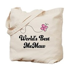 Worlds Best MeMaw Tote Bag