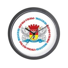 Polish Crest of Bialystok Wall Clock