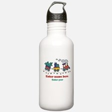 Personalized Christmas Train Water Bottle
