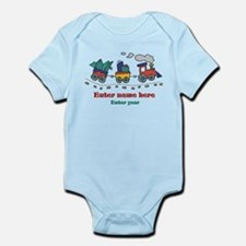 Personalized Christmas Train Infant Bodysuit