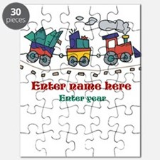 Personalized Christmas Train Puzzle