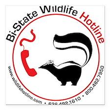 Bi-State Wildlife Hotline Staff T-Shirt Square Car