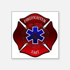 FIREFIGHTER-EMT Rectangle Sticker