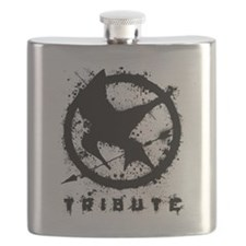 Hunger Games 1 Black (Splatter) Flask