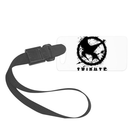 Hunger Games 1 Black (Splatter) Small Luggage Tag