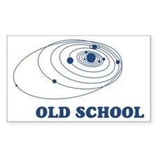 Old School Solar System Rectangle Decal