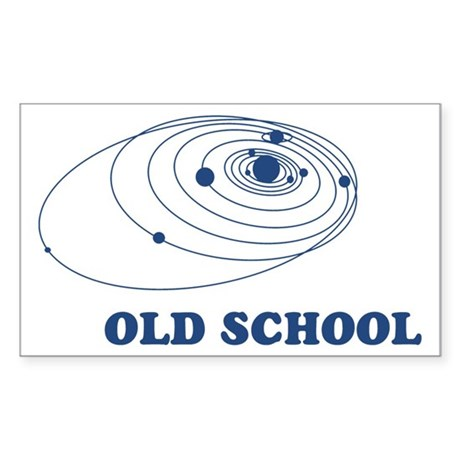 Old School Solar System Rectangle Sticker