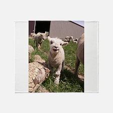Baby Lamb Throw Blanket