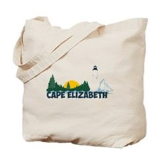 Cape Elizabeth ME - Beach Design. Tote Bag